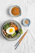 Vegetarisches Bibimbap © Sabrina Kiefer & Steffen Jost | Feed me up before you go-go