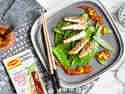 Hähnchen in Sesamruste mit Sweet-Chili-Chutney