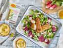 Kräuterfischstäbchen mit Zitronen-Mayonnaise