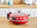 Der elektrische Pizzaofen sorgt für sehr gute Backergebnisse - und das schnell und einfach per Knopfdruck.
