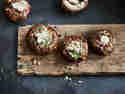 Glasierte Portobello Pilze