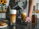 Iced Latte mit Vanillesirup