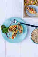 Gefüllte Muschelnudeln mit Linsen, Süßkartoffeln und Mangold © Foodistas