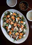 Herbstsalat mit Kürbis und Kichererbsen © Flowers on my plate