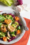 Salat mit gebratenem Ziegenkäse © Was du nicht kennst