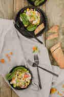 Linsensalat mit Grapefruit und Tahini-Dressing © Foodistas