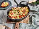Vegetarische Maultaschen überbacken aus dem Ofen