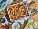 Orientalischer Ofenkürbis mit vegetarischem Hack