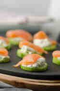 Gurken-Lachs-Häppchen mit Frischkäse © Eine Prise Lecker