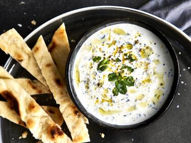 Joghurt-Dip mit Minze