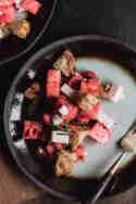Wassermelonen-Salat mit Feta und Rosmarin © Tina Kollmann | Lecker & Co.
