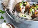 Gebackene Süßkartoffel mit Serrano-Würfeln und grünem Spargel © Sascha & Torsten Wett | Die Jungs kochen und backen