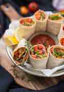 Bunte Gemüse-Salsa-Wraps © Catrin Neumayer | Cooking Catrin
