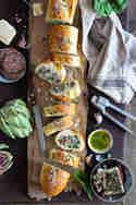 Baguette mit Spinat, Artischocke und Feta © Stephanie Just | Meine Küchenschlacht