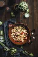 Pasta mit Artischocken und Tomaten © Tina Kollmann | Lecker & Co.