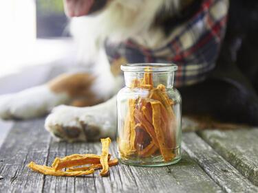 Süßkartoffelkaustangen für Hunde