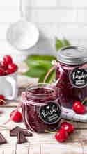 Süßkirsch-Marmelade mit Zartbitterschokolade © Vera Wohlleben | Nicest Things