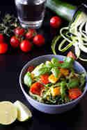 Zucchini Spaghetti mit Tomaten und Halloumi © Anne Klein | frisch verliebt
