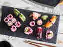 Veganes Sushi in Pink