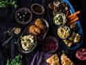 Mezze deluxe! Orientalisch-vegane Vorspeisenplatte