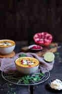 Süßkartoffelsuppe mit Limette & Granatapfel © Kristina Grasmann   Pottlecker