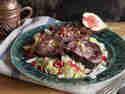Gans orientalisch: Gefüllte Gänsebrust mit Granatapfel