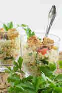 Couscous-Salat mit paniertem Sesam-Feta © Anne Klein   frisch verliebt