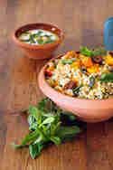 Couscous-Salat mit Kürbis © Michaela Harfst   Transglobal Pan Party