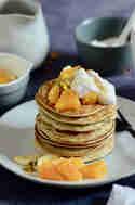 Hirse-Quinoa-Pancakes mit Fruchtkompott © Hannah-Lena Arnet | Schokoladenpfeffer