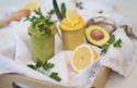 Zitronen-Safran-Hummus & Avocado-Hummus © Catrin Neumayer | Cooking Catrin