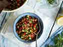 Israelischer Tomaten-Gurken-Salat